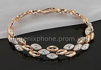 Обворожительный браслет с кристаллами Swarovski, покрытый слоями золота (700120)
