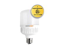 LED Лампа 40W 6400K с переходником Е27-Е40