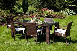 Столовый комплект садовой мебели Rapallo & Mona из искусственного ротанга