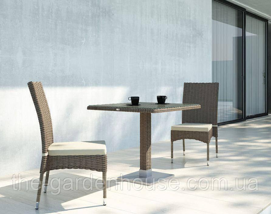 Двухместный набор садовой мебели Quadro & Strato из искусственного ротанга бежевый