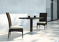 Двухместный набор садовой мебели Quadro & Strato из искусственного ротанга коричневый, фото 1