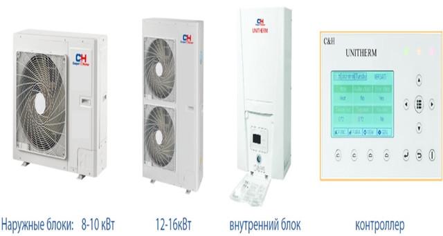 Тепловые насосы воздух-вода Сooper&Нunter unitherm (отопление/охлаждение/гвс).