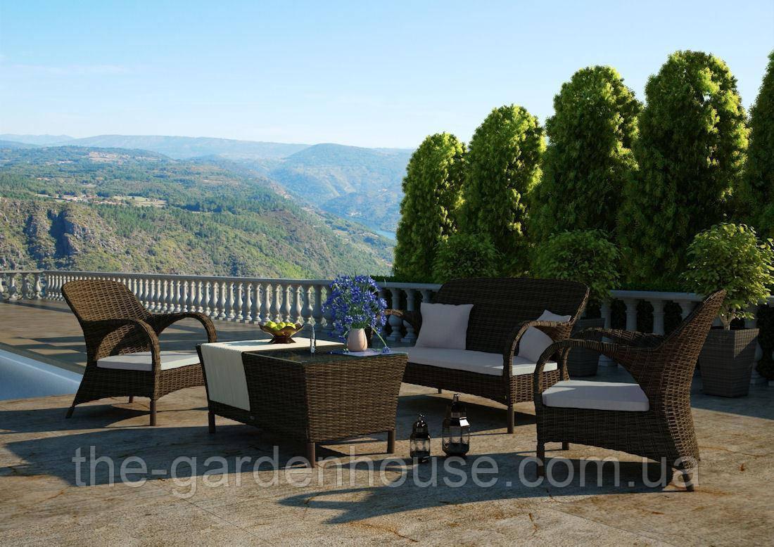 Набор садовой мебели для отдыха Firienze Royal из искусственного ротанга коричневый