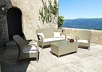 Набір садових меблів для відпочинку Firienze Royal з штучного ротанга бежевий, фото 1
