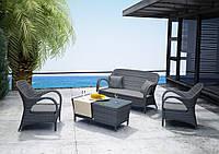 Набор садовой мебели для отдыха Firienze Royal из искусственного ротанга серый, фото 1