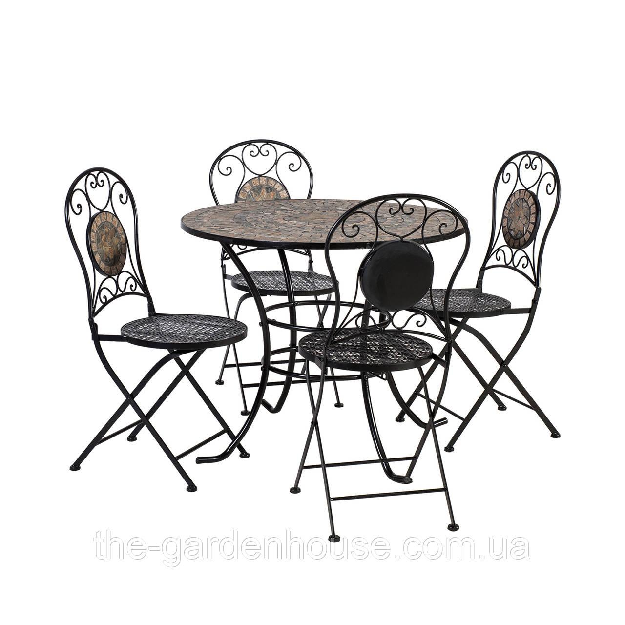 Обеденный комплект Mosaic: стол и 4 складных стула