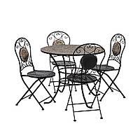 Обеденный комплект Mosaic: стол и 4 складных стула, фото 1