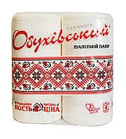 Туалетная бумага Обуховский Вышиванка белая (2 слоя, 130 листов) - 4 рулона