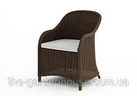 Садовое кресло Leonardo Royal из искусственного ротанга коричневое