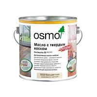 Бесцветное шелковисто-матовое Масло OSMO 3032 с твёрдым воском (2,5л)