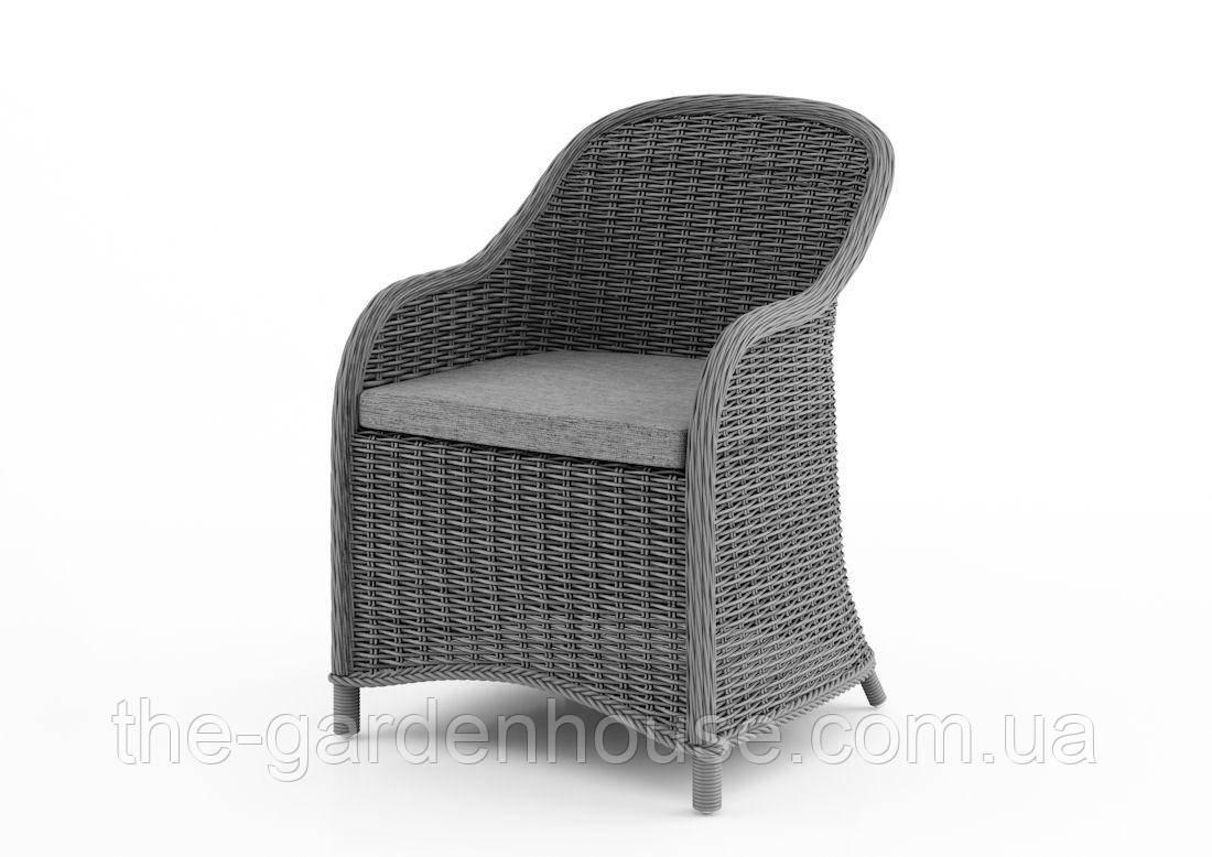 Садовое кресло Leonardo Royal из искусственного ротанга серое
