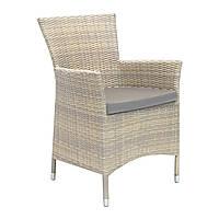 Садовое кресло Wicker-1 из искусственного ротанга светло-бежевое