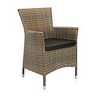 Садовое кресло Wicker-1 из искусственного ротанга капучино