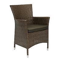 Садовое кресло Wicker-1 из искусственного ротанга коричневое