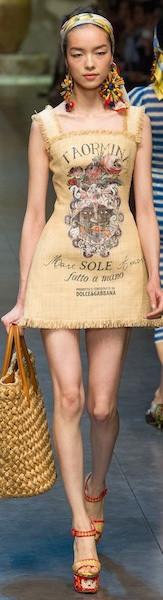 Короткое летнее платье Dolce&Gabbana