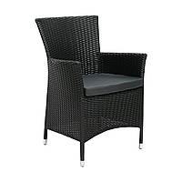 Садовое кресло Wicker-1 из искусственного ротанга черное