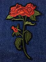 Нашивка Роза 3 бутона 115x170 мм