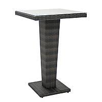 Барный столик Wicker из искусственного ротанга темно-коричневый