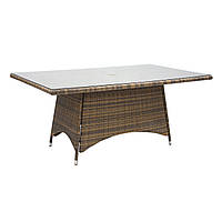 Садовый стол из искусственного ротанга Викер 170х100 см капучино