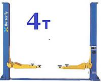 Гидравлический подъемник автомобильный двухстоечный, 4 т