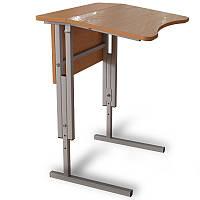 Стол Антисколиозный 1- месный, Аудиторный,регулируемый по высоте с царгой для школьников.