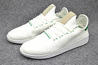 Кроссовки женские Adidas Pharrell Williams Tennis Hu white-green, фото 1