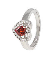 Серебряное кольцо с фианитом КК2ФГ/474 - 18,1