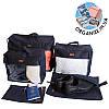 Набор дорожных сумок в чемодан 5 шт ORGANIZE (синий)
