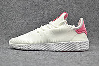 Кроссовки женские Adidas Pharrell Williams Tennis Hu white-pink, фото 1