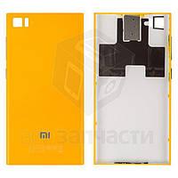 Задняя крышка батареи для мобильного телефона Xiaomi Mi3, желтая, WCDMA