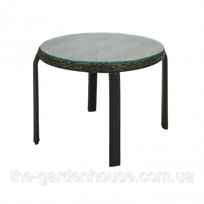Приставной столик Wicker из искусственного ротанга темно-коричневый