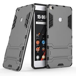 Чехол накладка для Xiaomi Mi Max 2 противоударный Alien с подставкой, Серый