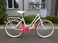 "Велосипед женский AIST AVENUE ""26 CTB с корзинкой, фото 1"