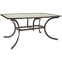 Обеденный садовый стол со стеклом MONTREAL коричневый, фото 1