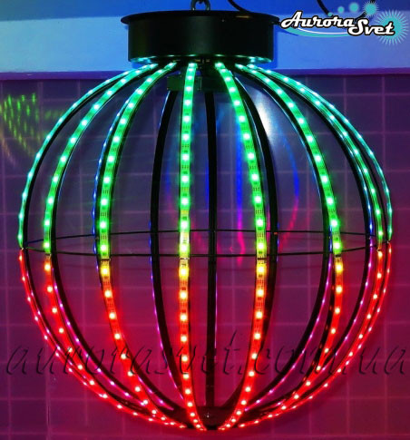 Светодиодная сфера/полусфера AS-3, 550мм, 16 лучей, 24пикс/луч