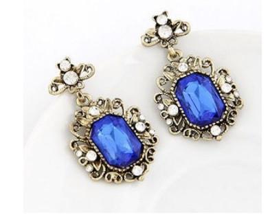 Серьги с голубым камнем, фото 1