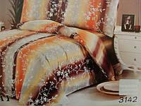 Сатиновое постельное белье полуторка ELWAY 3142