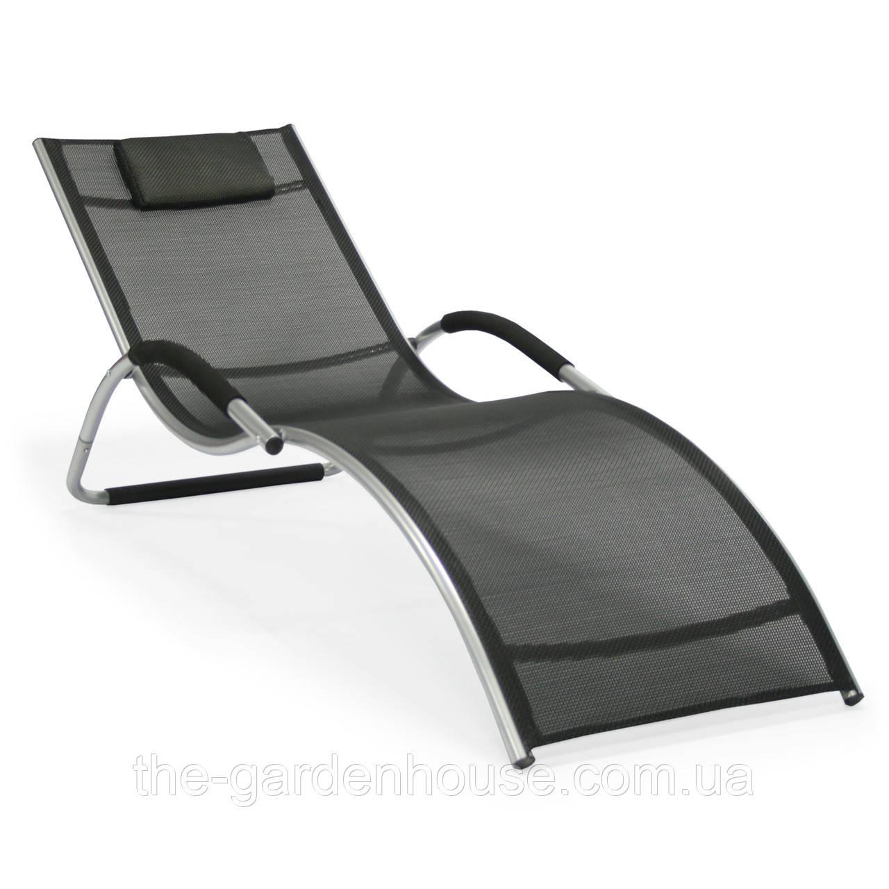 Лежак BRIGO из текстилена черный
