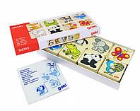 Развивающая настольная игра для детей Жители зоопарка, Goki, розвиваюча гра для дiтей