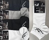 Носки мужские спортивные х/б с сеткой Puma, Sport Socks, 41-45 размер, короткие, ассорти, 643