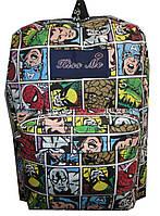 Рюкзак для девочки Е132 карман комиксы
