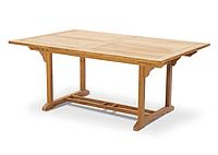 Садовий стіл обідній БЕРГАМО з тикового дерева розкладний 180/240 см, фото 1