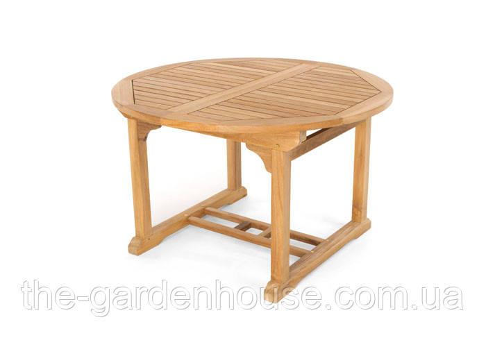 Садовий стіл обідній ВЕРОНА з тикового дерева розкладний 120/180 см