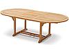 Обеденный садовый стол ТАВОЛО из тикового дерева раскладной 180/240 см