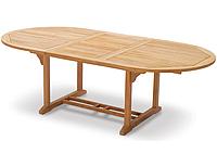 Обеденный садовый стол ТАВОЛО из тикового дерева раскладной 180/240 см, фото 1