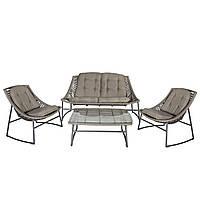 Садовая мебель для отдыха CELJE из искусственного ротанга белый