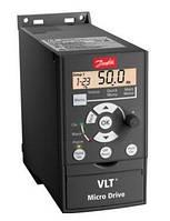 Частотный преобразователь Danfoss (Данфосс) VLT Micro Drive FC 51 0,75 кВт / 1фаз. (132F0010)