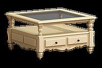 Журнальный столик со стекляной столешницей