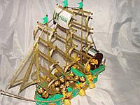 """Корабль из конфет """"Сундук счастья"""""""