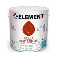 Элемент Element Aqua Antiseptik - Декоративная пропитка-антисептик для дерева, 2,5л.